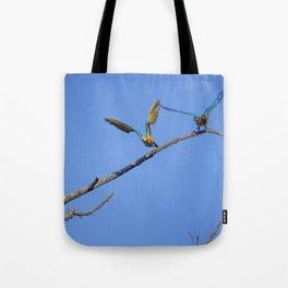 Birds from Pantanal Arara canindé, juntos é bem melhor Tote Bag