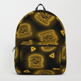 Neon Future Burgers in Yellow Backpack