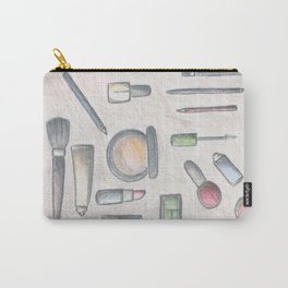 MAKE-UP - pencil and coloured pencil illustration Carry-All Pouch