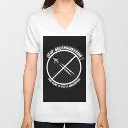 Stop Geoengineering Unisex V-Neck