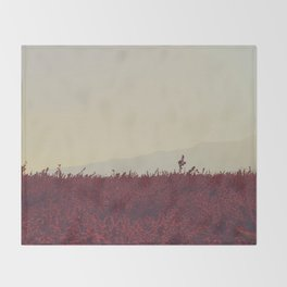 Field of Red Throw Blanket