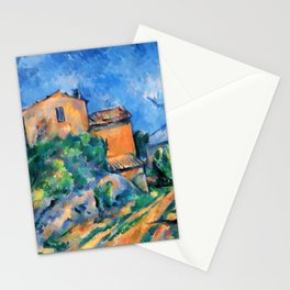 "Paul Cezanne ""Maison Maria with a View of Chateau Noir"" Stationery Cards"