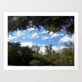 Rock Island Skies Art Print