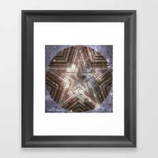 Hollywood Star with water drops Framed Art Print
