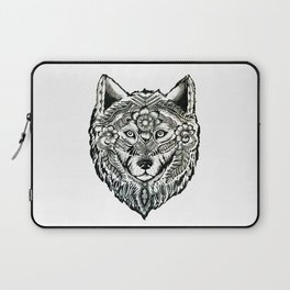 Flower Wolf Laptop Sleeve