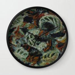 Oilpainting miniature smoke flower cannabis Wall Clock