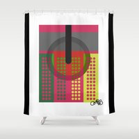 dj Shower Curtains featuring DJ. by Juan Carlos Campos