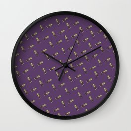 Mini Liff Tiled (Purple) Wall Clock