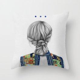 Strands II Throw Pillow