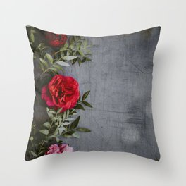 The Red Roses (Color) Throw Pillow