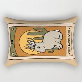 The Jackalope - Cryptid Tarot Card Rectangular Pillow