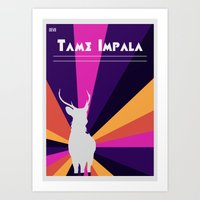 tame impala Art Prints featuring Tame Lsd by OEVB