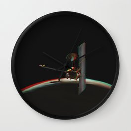 Odyssey over Martian Sunrise, 3-D Artist Concept. Original from NASA. Wall Clock