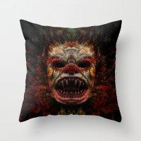 demon Throw Pillows featuring Demon by Zandonai