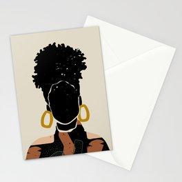 Black Hair No. 14 Stationery Cards