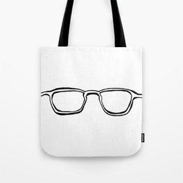 Four Eyes - B/W Tote Bag