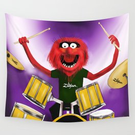 Animal Drummer Wall Tapestry