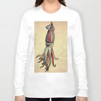squid Long Sleeve T-shirts featuring Squid by Irene Fratto Due