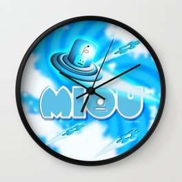 Miou in Blue! Wall Clock
