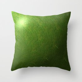 grass sphere Throw Pillow