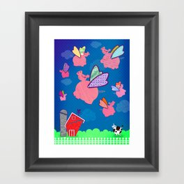 When Pigs Fly Framed Art Print