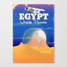 Egypt Pyramids Vintage flight poster Canvas Print
