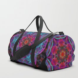 Vibrant wheel of fortune mandala Duffle Bag