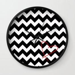 CHEVRON&HEART Wall Clock