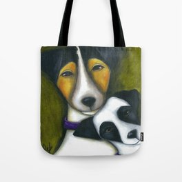 Jack Russell Terriers Mom and Baby  Tote Bag