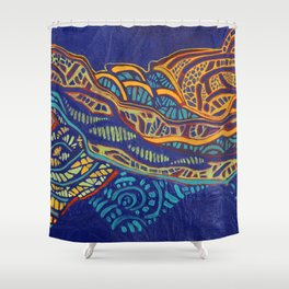 COLOR MY WORLD 1 Shower Curtain
