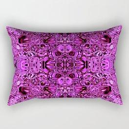 Sparkling pink glass mosaic Rectangular Pillow