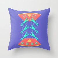 lobster Throw Pillows featuring lobster by pam beach