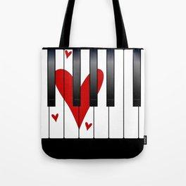 Love Piano Tote Bag