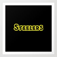 steelers Art Prints featuring Steelers by Judy Palkimas