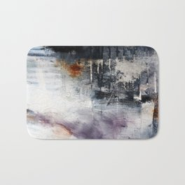 Black and white abstract painting print  Bath Mat