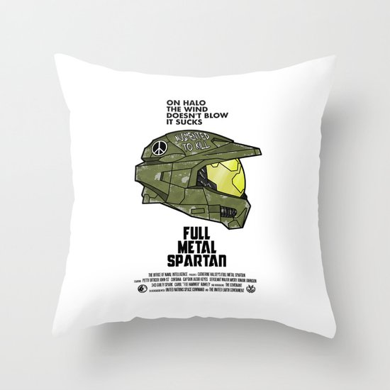 Full Metal Spartan Throw Pillow