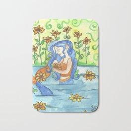 Sunflower Mermaid Bath Mat