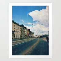 stockholm Art Prints featuring Stockholm by Jane Lacey Smith