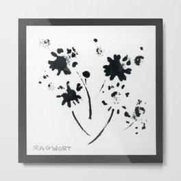 001/100: RAGWORT [100 Day Project 2020] Metal Print