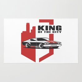Muscle Car - the king Rug