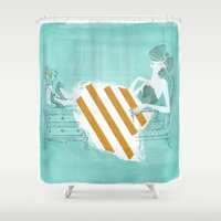 tiffany Shower Curtains featuring Tiffany by Shaina Anderson
