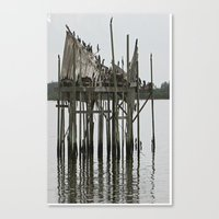 postcard Canvas Prints featuring postcard by Jean Tenhulzen
