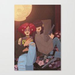 Riot grrrls Canvas Print