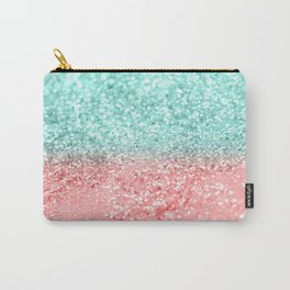 Summer Vibes Glitter #1 #coral #mint #shiny #decor #art #society6 Carry-All Pouch