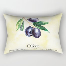Olives Can't be Consumed Directly from the Tree Rectangular Pillow