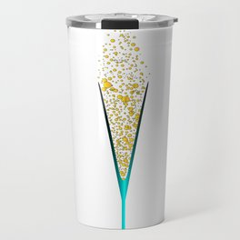 V Shaped Champagne Glasses Travel Mug