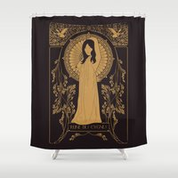 bjork Shower Curtains featuring Reine des Cygnes (Gold) by Florent Bodart / Speakerine
