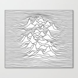 Black and white graphic - sound wave illustration Canvas Print