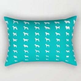 All Dogs (Aqua) Rectangular Pillow