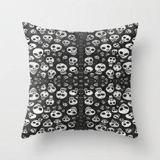 Skulls - Many Skulls Throw Pillow